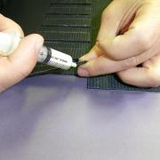 Conveyor belt apply solution